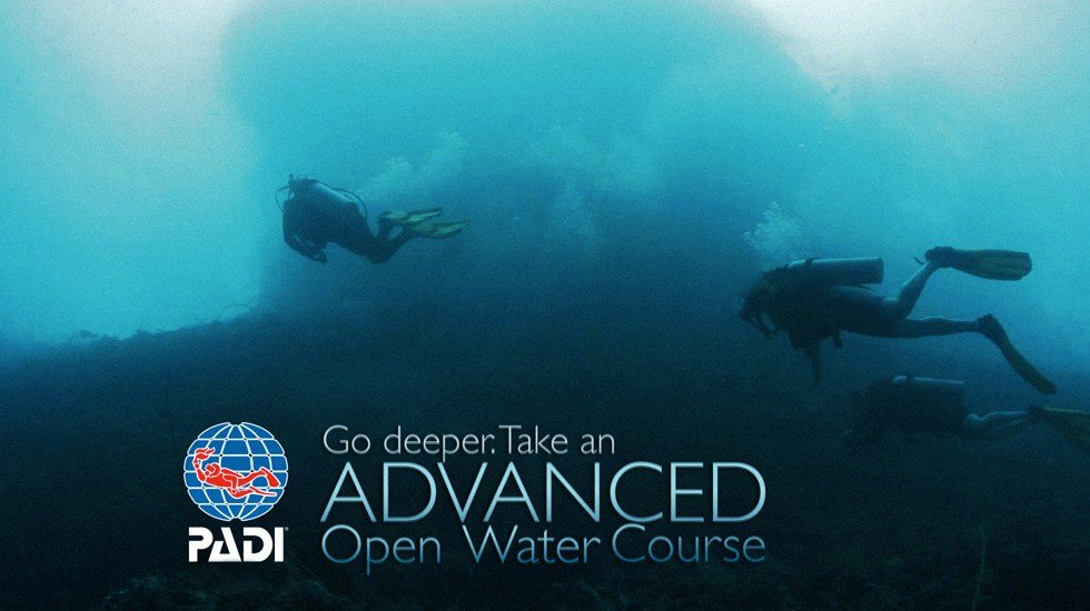 Padi Advanced openwater Diver Course, 5 more dives to 30m