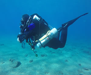 closed circuit rebreather diving in Lanzarote