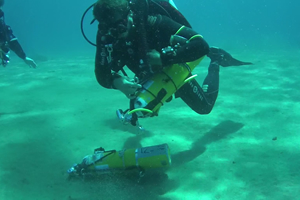 TDi Trimix Diver Course retrieve stage cylinbders