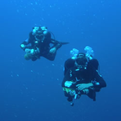 technical divers in Lanzarote